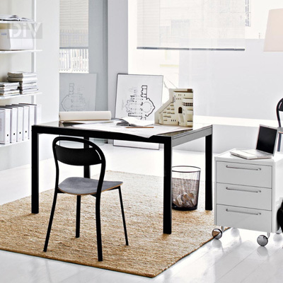 Key extendable dining table dining tables dining for Calligaris key table