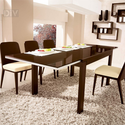 Vero VR Extendable Glass Top Table Dining Tables Dining - Calligaris dining table