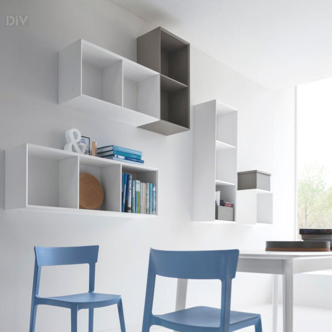 Inside Hanging Cabinet 52. Modular Wall Units. Living : Calligaris ...