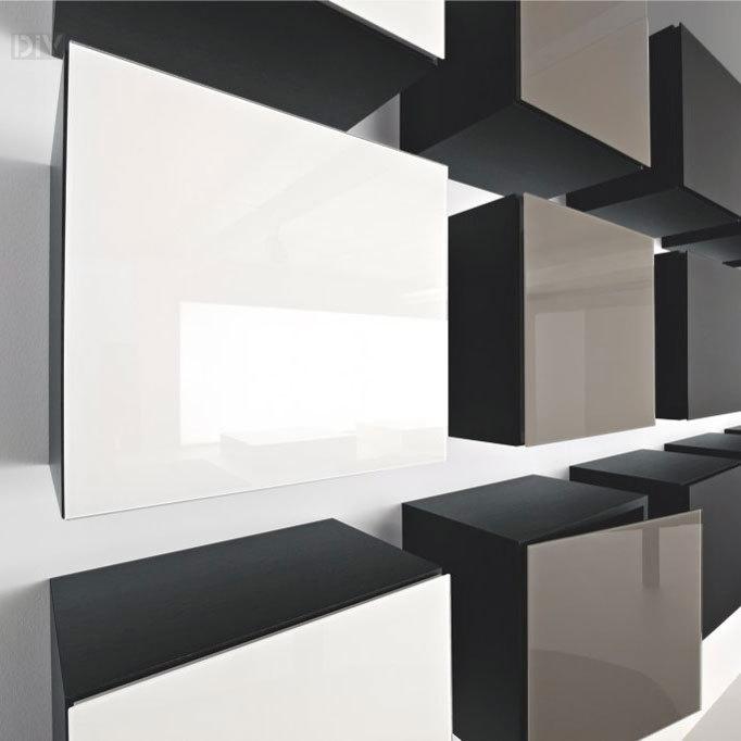 Inbox Hanging Cabinet 51. Modular Wall Units. Living : Calligaris. Modern fur...