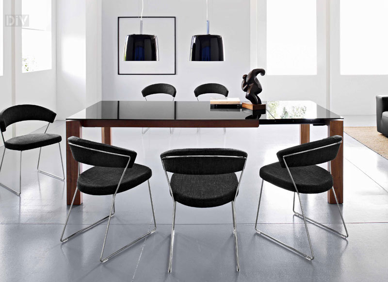 Calligaris Omnia Glass Extendable Dining Table