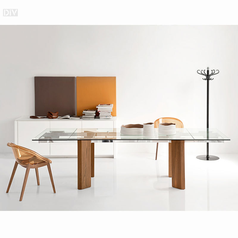Calligaris Tower Wood Extendable Dining Table