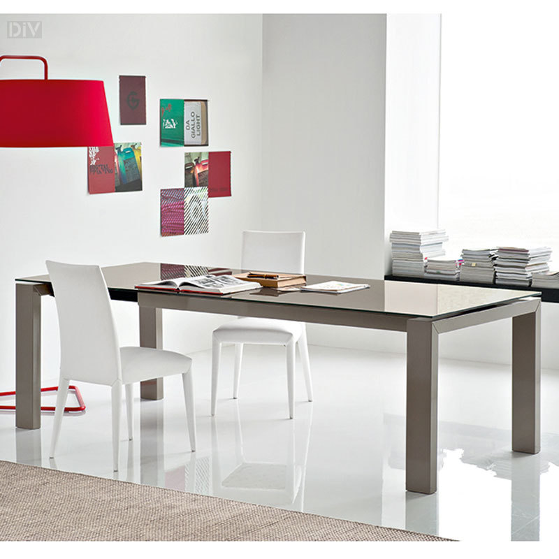 Sigma Glass Extendable Dining Table