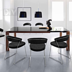 Dining Tables. Omnia Glass Extendable Dining Table