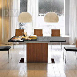 Dining Tables. Park Glass Extendable Dining Table