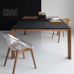Dining Tables. Omnia Glass Square Extendable Dining Table