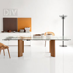 Dining Tables. Tower Wood Extendable Dining Table