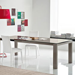 Dining Tables. Sigma Glass Extendable Dining Table