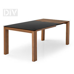 Dining Tables. Sigma Glass Square Extendable Dining Table
