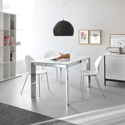 Baron extendable dining table dining tables dining for Calligaris baron